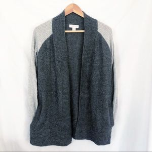 Kenar 100% cashmere open front cardigan sweater S